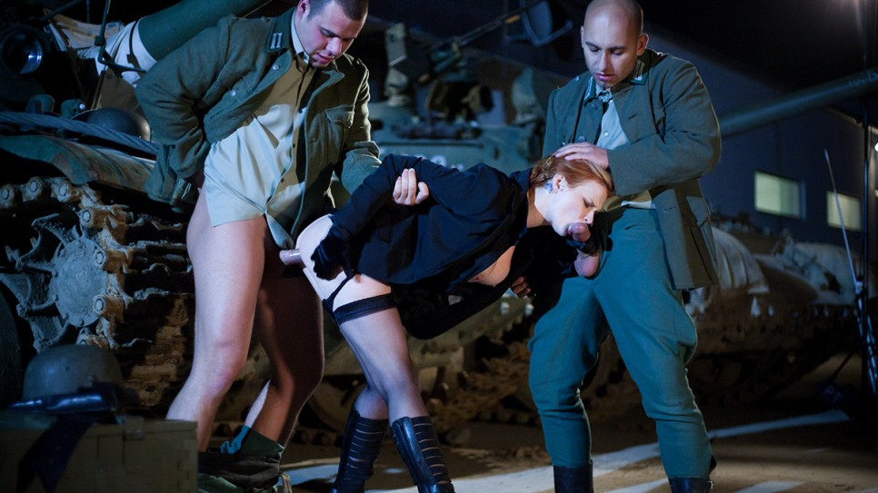 Hot french military fuck each other until backup arrives