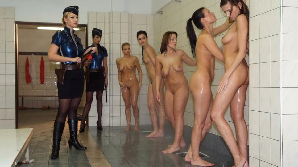 Lesbian prison shower