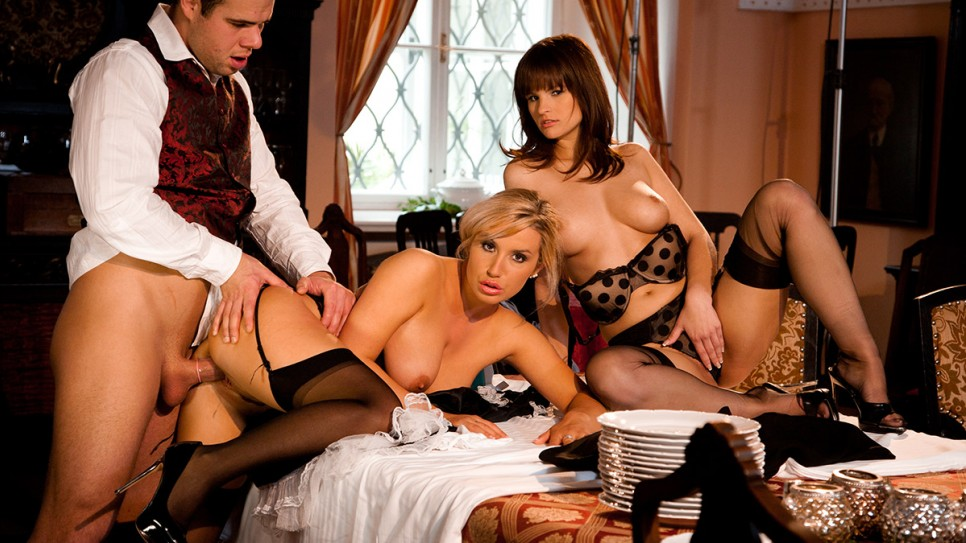 core sex french maid hard