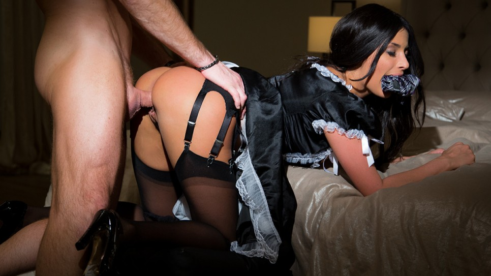 French maid ass fucking